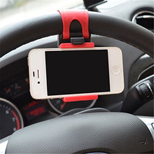 Universal Car Steering Wheel Phone Socket Holder Navigate Case Cover For iPhone 4 5 6 6S Plus For Samsung Galaxy S4 S5 s6 edge(China (Mainland))