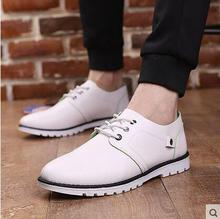 2016 Free shipping fashion  spring male shoes male casual shoes fashion leather Men commercial  breathable fashion single shoes