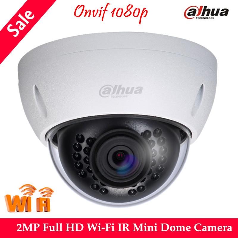 Original Dahua Wireless IP Camera 2MP Full HD Wi-Fi IR Mini Dome Camera IPC-HDBW1200E-W IR Distance 30M DWDR Day/Night IP66<br><br>Aliexpress