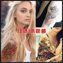 5pcs/lot exquisite flower tattoo stickers personalized fashion general(China (Mainland))