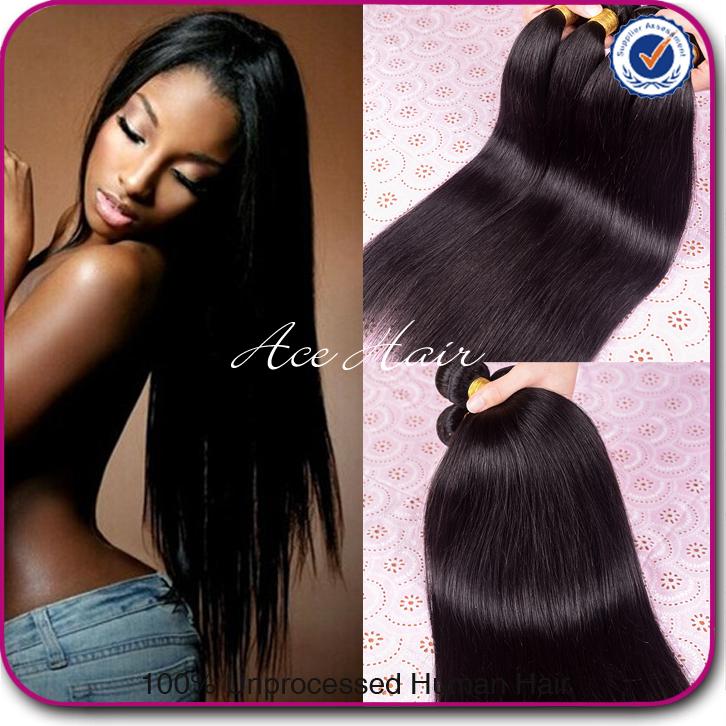Queen Hair Products Peruvian Virgin Hair Straight 4pcs,Best 8-30inch Peruvian Straight Virgin Hair Remy Human Hair Weave Bundles(China (Mainland))