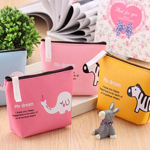 Womens Animal Canvas Zip Wallet Coin Pocket Key Holder Case Bag Handbag Purse 2016 Hot<br><br>Aliexpress