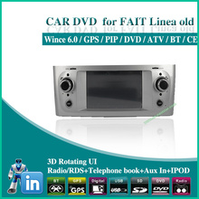 factory wholesale Car dvd player for fiat linea old BLUE ME GPS DVD BT RADIO USB AUX SD IPOD audio Free shipping 3pcs/lot 1401(China (Mainland))