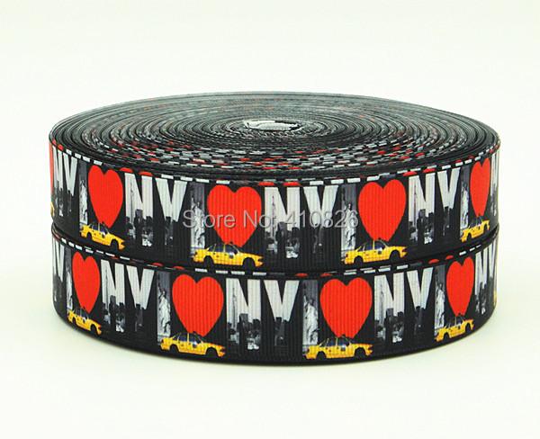 WM ribbon 140810011 7/8inch 22mm Printed grosgrain ribbon 50yds/roll webbing free shipping(China (Mainland))