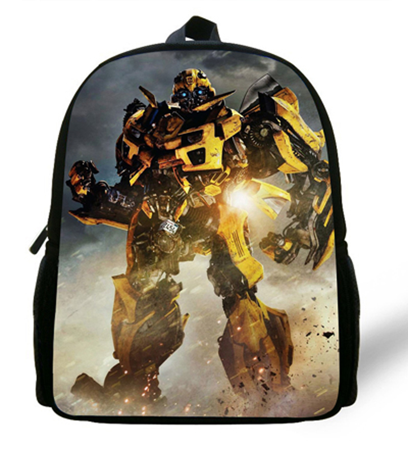 12-inch Bumblebee School Bags Mochilas Transformers Backpacks Boys Favourite Cartoon Bag Transformers.(China (Mainland))