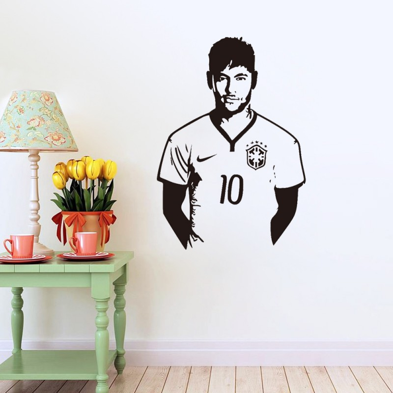 1PC Hot Sale World Cup Soccer Player Football Wall Sticker Kids Boys Room Decor Decal Bar Party Club Wallpaper(China (Mainland))