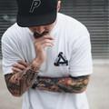 2016 Palace Skateboards Classic Triangle Print Mens Hip Hop Noah Clothing Gosha Rubchinskiy Cotton Swag Tshirt