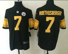 100% Stitiched,high quality,Pittsburgh Steelers Ben Roethlisberger for mens(China (Mainland))