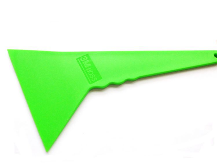 100pcs/lot Green Car Glass Window Tool Car Vinyl Film squeegee Scraper Tools Free Shipping(China (Mainland))