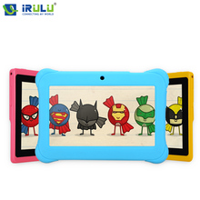 "iRULU Y1 7"" BabyPad For Kids Education Quad Core Android Tablet PC for Children 0.3MP RAM 1GB ROM 8GB Silicone Case Gift Hot(China (Mainland))"