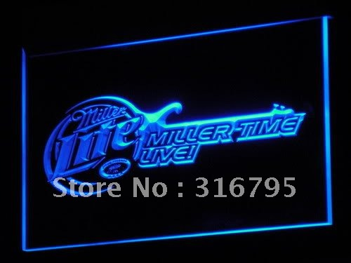 a017-b Miller Lite Beer Bar Guitar LED Neon Light Signs Wholesale Dropshipping(China (Mainland))