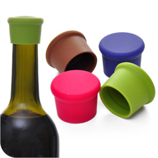 Portable Silicone Wine Beer Cover Bottle Stopper Cap Strong Seal Keep Fresh(China (Mainland))