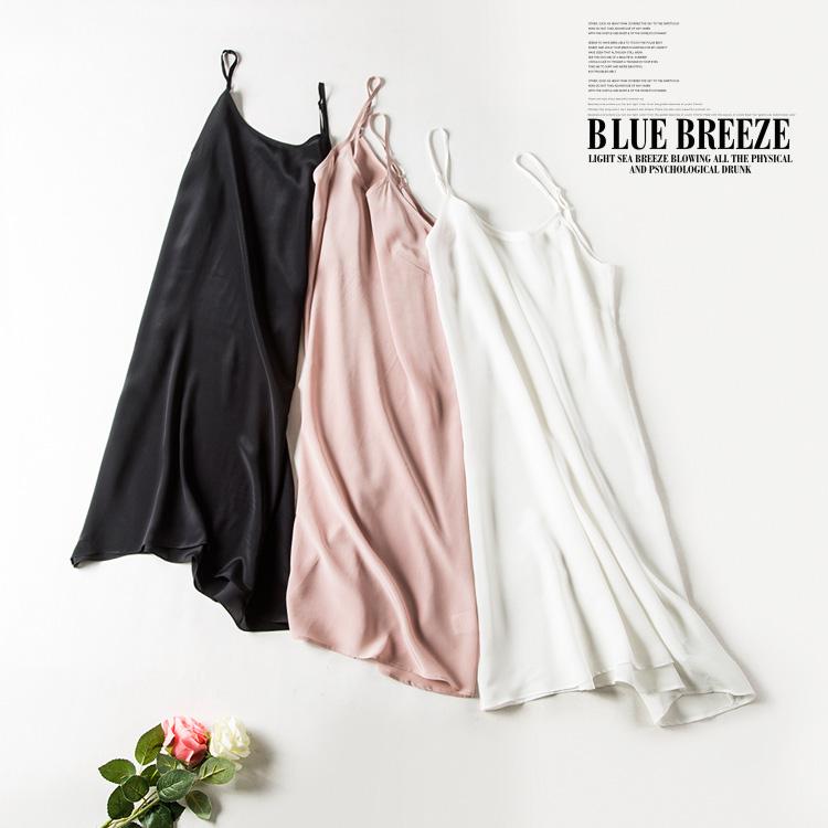 100% pure silk nightgowns women Sexy sleepwear Very light SILK nightdress nightie Summer style pink white black