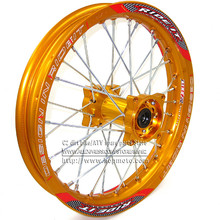1.85 x 14inch Rear Rims Aluminum Alloy Disc Plate Wheel Gold CNC Hub 14 inch 32 spoke dirt bike pit wheel spare parts - C2 bike/ATV Store store