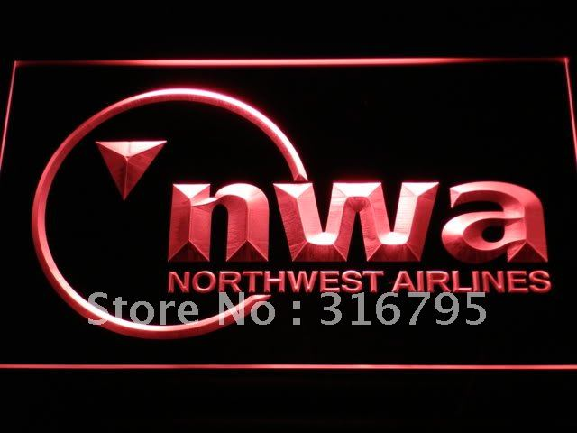 d091-r Northwest Airlines LED Neon Light Sign Wholesale Dropshipping(China (Mainland))