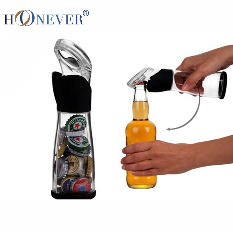 Novedad claro botella de cerveza abridor y botella de colector, Ideas