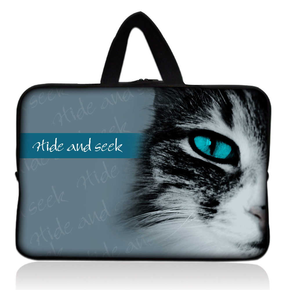 "Hide and seek cat cover soft carry case bag handbag sleeve for ipad mini, samsuny 7"" 7.9"" 8"" tablet PC e-bookfree shipping(China (Mainland))"