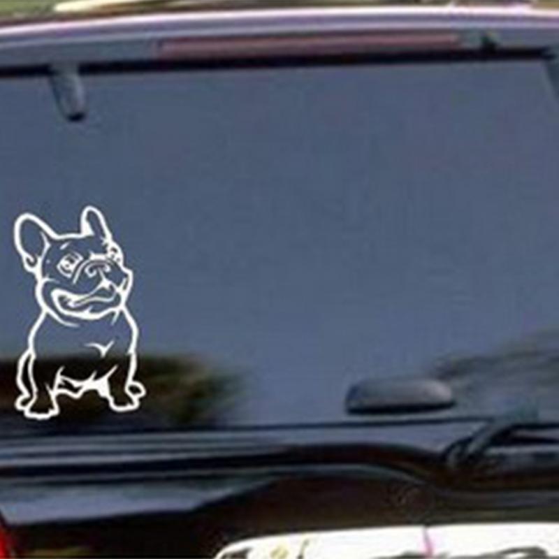 Chien de voiture autocollants promotion achetez des chien for Autocollant mural francais