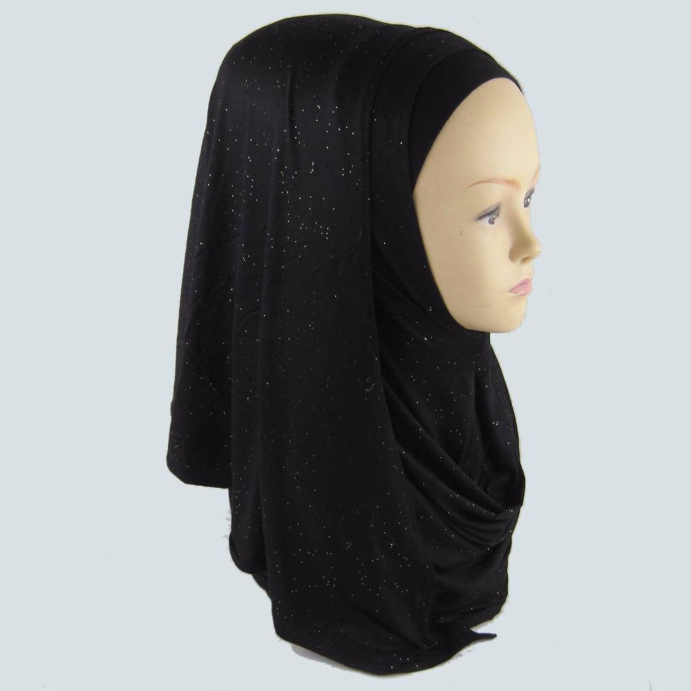 Shimmering Glitter Solid Plain Viscose Shawl Scarf Bling Bling Head Wrap Muslim ersey glitter instant shawl PH070(China (Mainland))