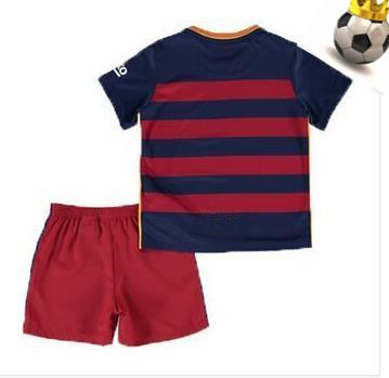 2015 2016 champion kit soccer jersey home PEDRO XAVI children INIESTA SUAREZ kids Football shirt camisa 15 16 LFP La Liga(China (Mainland))
