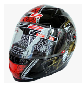 Free shipping high-grade genuine original LS2 FF358 motorcycle helmet safety helmet full helmet Racing /Black gold dragon(China (Mainland))
