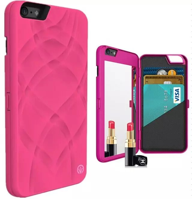 Phone case For iPhone 6 6s 6plus 6splus case with plastic material Cosmetic mirror iPhone 6 6s 6plus 6splus with make up mirror(China (Mainland))