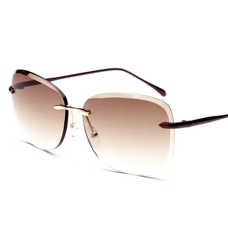 2016 hot sale New Women's men's Lovers UV protection Anti UV Frameless solar eye sunglasses Sun Glasses Travelling Goggles 6816(China (Mainland))