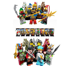 8PCS/set New Enlighten 1501 AB Figures One of China Romance the Three Kingdoms Building Blocks Toys For Children Lepin(China (Mainland))