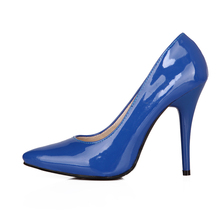 Armoire Sales Big Size 33-43 Yellow Blue Red Glossy Pointed Toe Super High Heels Women Nude Pumps Ladies Shoes A05