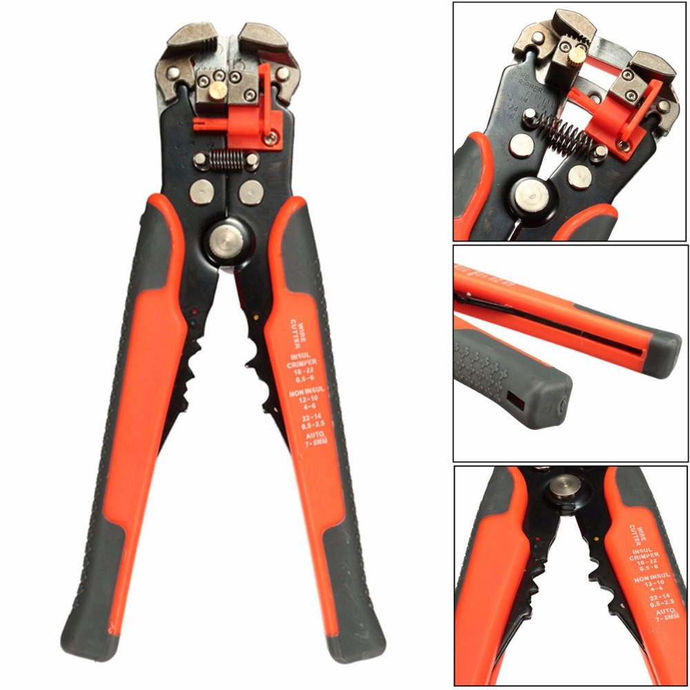 8 inch Adjustable Wire Cable Stripper Automatic Cutter Plier Electricians Crimping Tool(China (Mainland))