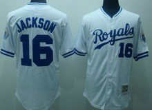 16 bo jackson 8 Mike Moustakas 35 Eric Hosmer jersey Kansas Royals Jersey Throwback Baseball Jerseys Sport Jerseys Blue White(China (Mainland))