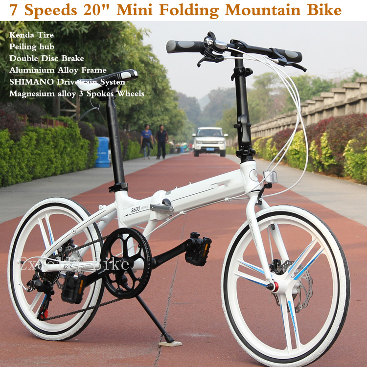7 Speeds 20'Folding Bike 3/32 Spokes wheels Mini Bicicleta Plegable Mountain Bike Mountain Bicycle City Bicicletas Child Bycicle(China (Mainland))
