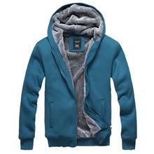 2015 Winter Extra Thick Velvet Hooded fleece warm Mens Hoodies and Sweatshirts Sport Jackets and Coat