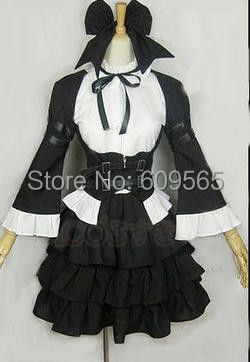 Free Shipping ! Fairy Tail Elza Scarlet Maid Cosplay Costume ,Perfect Custom For you!(China (Mainland))