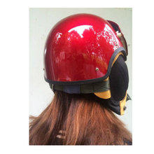 BRAND NEW DARK RED US AIR FORCE JET PILOT FLIGHT HELMET WITH VISOR - Excom Technology CO.,Limited store