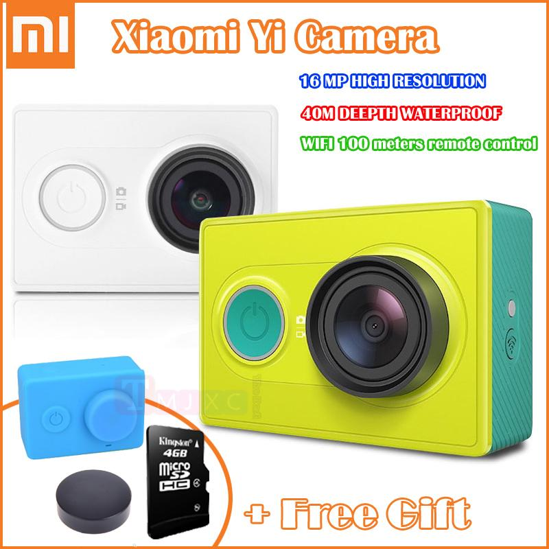 Original Xiaomi Yi Action Camera Xiaoyi Mini Camcorder Full HD 1080P 16MP Sport Camera WiFi Connection for iPhone or Android(China (Mainland))