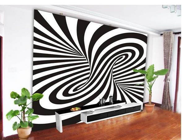 Large Mural Wallpaper Papel De Parede Black And White