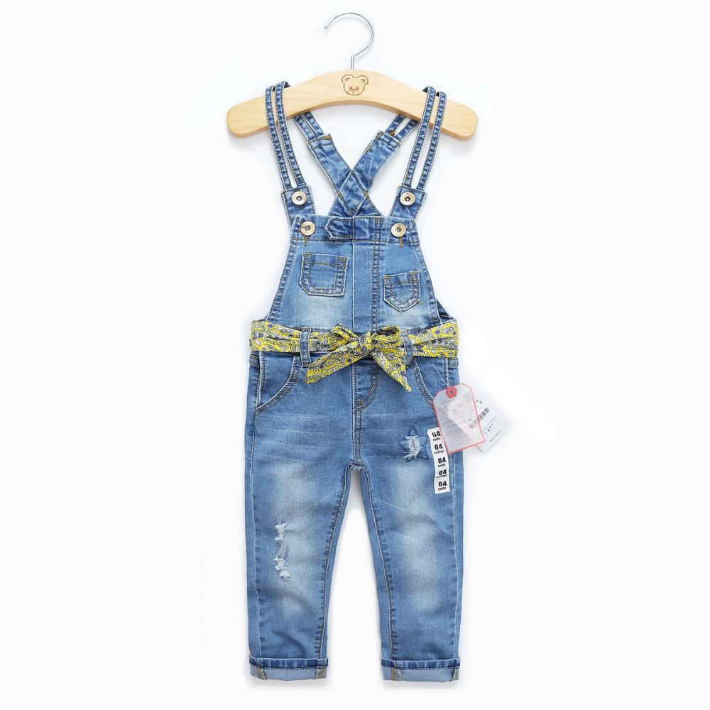Retail 2015 New Girls denim overalls,leisure trousers kid overalls child baby denim trousers kids jeans childrens pants jeans<br><br>Aliexpress