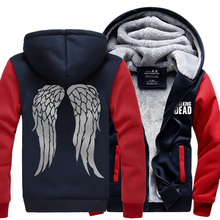 H0007 New Winter Jackets and Coats The Walking Dead hoodie Anime Fashion Hooded Thick Zipper Men Sweatshirts