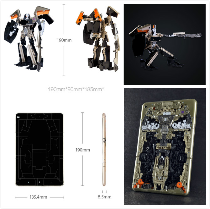Limited Edition Original High quality Plastic ABS Deformation Robots Xiaomi Soundwave Phone Robot Toys for Boys Gift(China (Mainland))