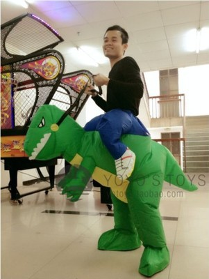 Free shipping halloween costume for adult inflatable dinosaur costume animal party costume(China (Mainland))