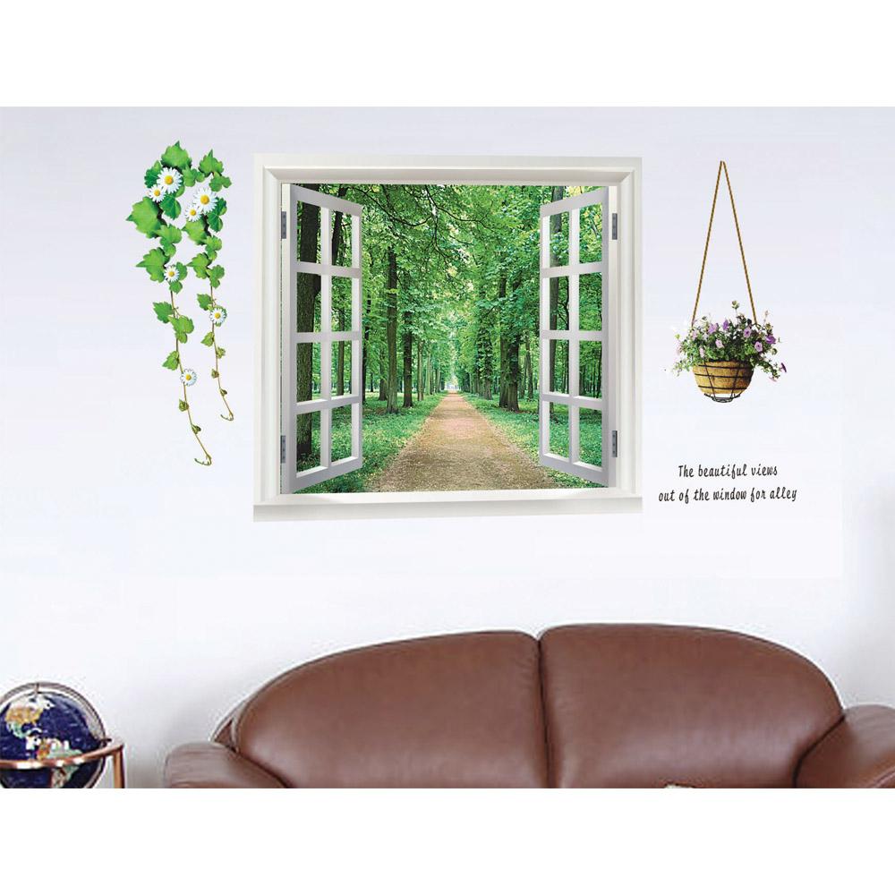 [해외]숲 골목 DIY 벽 스티커 벽지 예술 장식 벽화 룸 장식 홈 인..