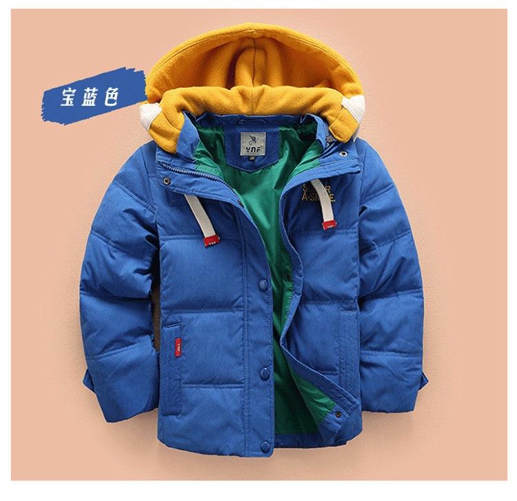 Скидки на Новая осенне-зимний мода мальчик пуховик пальто детей теплые толстые дети оптовая
