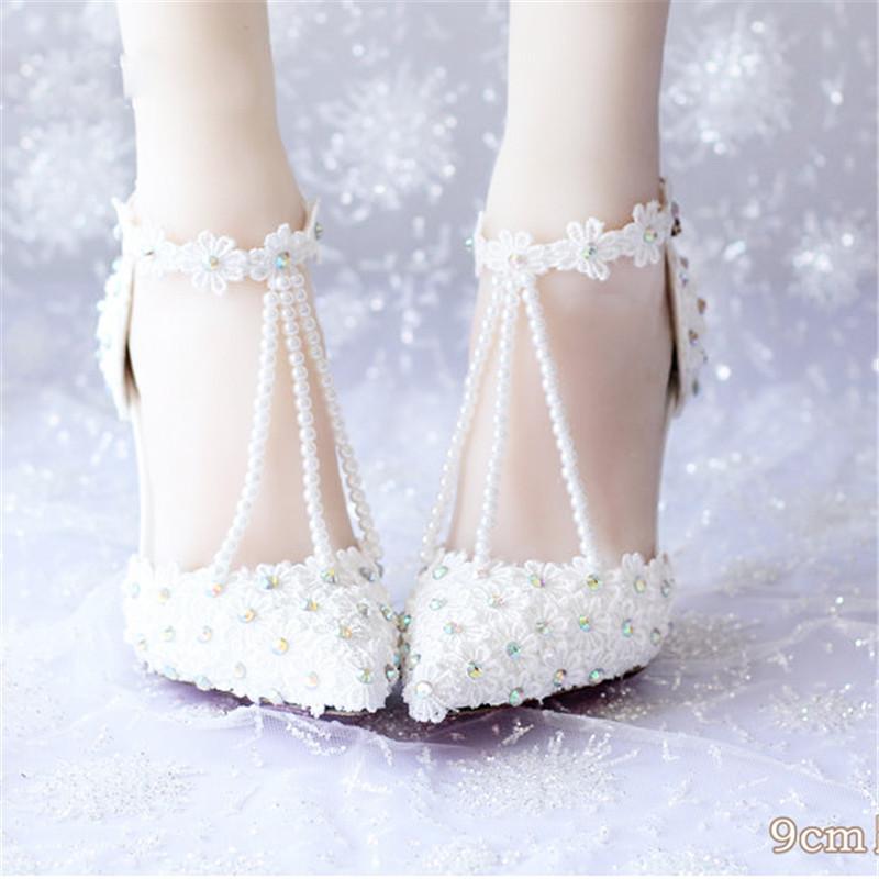 Ab rhinestone lace bridal shoes ultra high heels thin heels formal dress shoes wedding shoes sandals