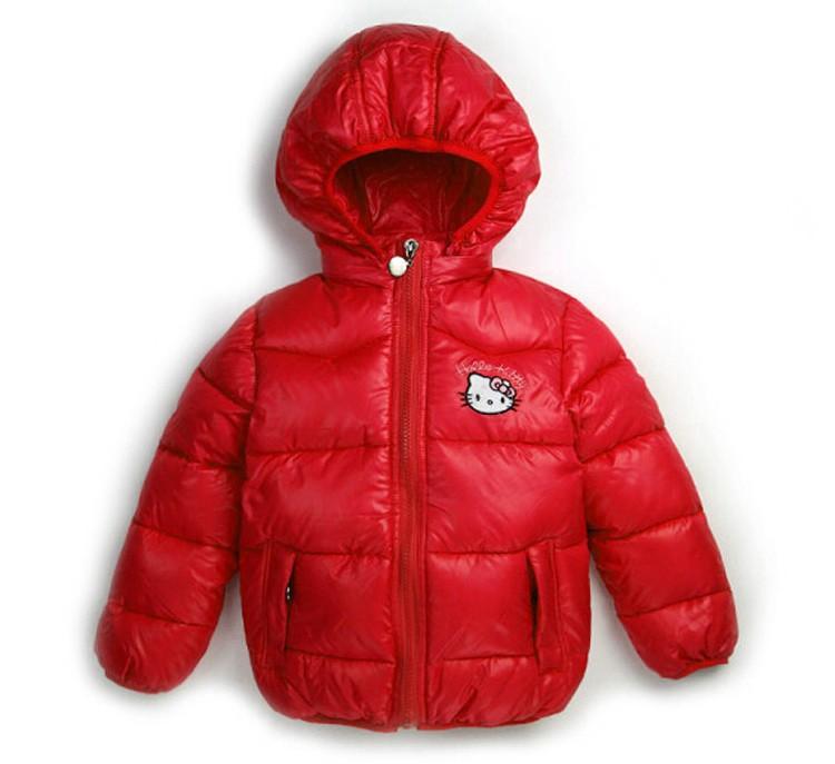 New Children Winter Outerwear Clothing Girls Hello Kitty ...