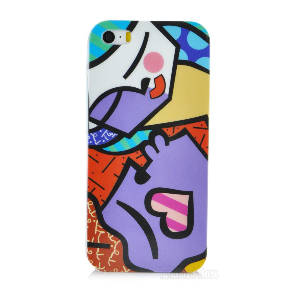 Fashional дизайн милый мультфильм Медведь Китти жесткий пластиковую крышку случае для apple iphone 5 5s pt8033