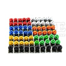 Brand new Universal 6mm CNC variety of colors motorcycle body work fairing bolts screws For YAMAHA YZF-R25V R15 R125 TMAX530(China (Mainland))