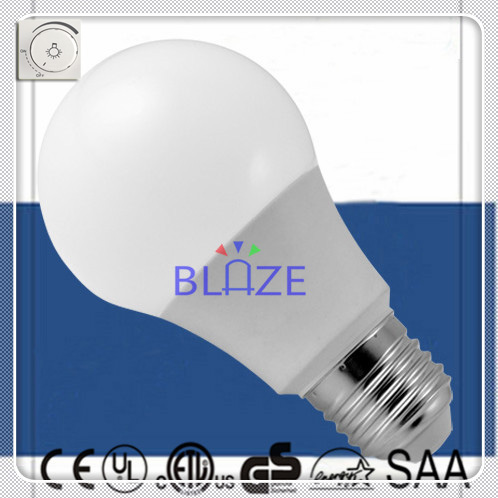 No Driver Dimmable 5W 9W 1120LM A19 led Round lamps Eco G60 E27 driverless Glof Bulb light 2835 SMD 2700K - 6000K 500pcs/Lot(China (Mainland))