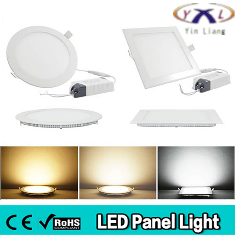 led panel round ultra thin ceiling light 2835smd 3w 6w 9w 12