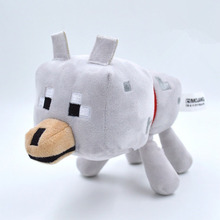 New Arrival 23cm Minecraft Toys High Quality Minecraft Wolf Stuffed Plush Toys Minecraft Game Cartoon Kids Toys Gift(China (Mainland))